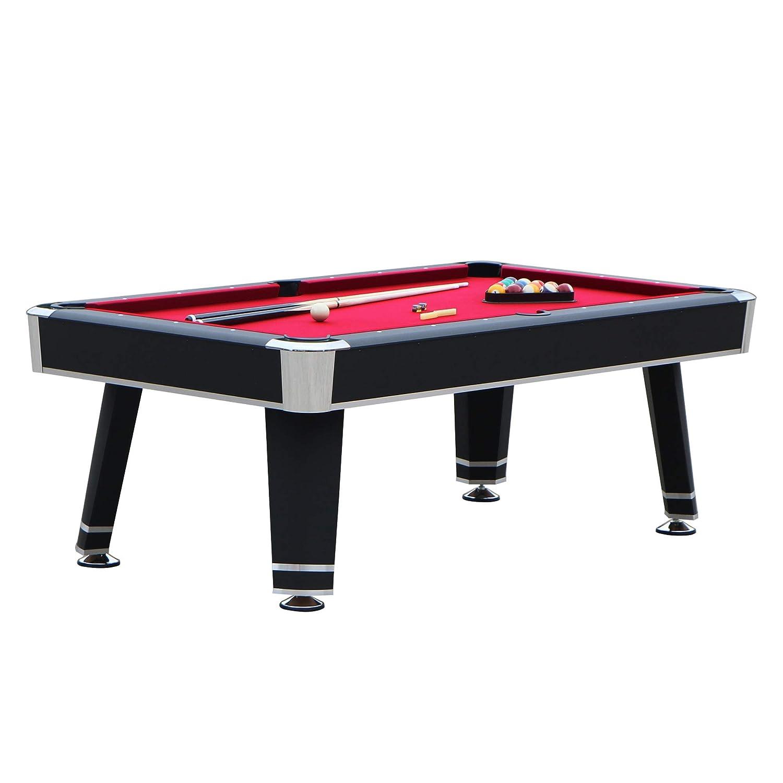 Hathaway Jupiter 7フィート プールテーブル 長さ84インチ x 幅48インチ x 高さ31インチ ブラック B07HR6SBL3