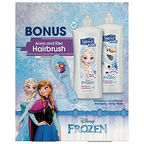 Suave Kids Disney Frozen Shampoo & Conditioner Gift Pack + Bonus Frozen Brush 28 oz., 2 ct