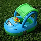 WISHTIME Inflatable Baby Pool Float Seat Sunshade Inflatable Float Seat Boat,Security Safety Aid Swim Ring for Kids Baby Child Toddler (6-36 Months)