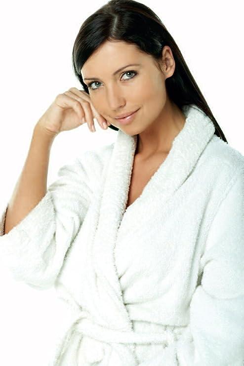 Impressionz - Albornoz de mujer (algodón egipcio rizado, con ...