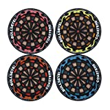 Whitelotous 4pcs Thermal Insulation Round Bullseye Coasters Dart Board Drink Bottle Beer Beverage Cup Mats