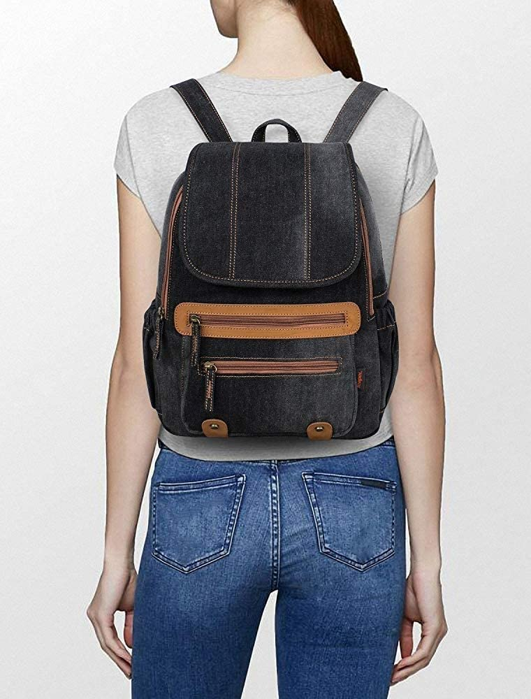 School Hand Luggage Size Backpacks Girls Ladies Womens Casual Daypack Bags TONGSH Canvas Backpack Rucksack