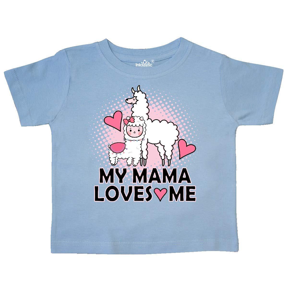 inktastic My Mama Loves Me Llama Toddler T-Shirt