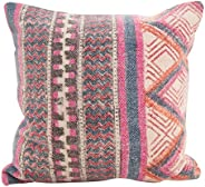 SARO LIFESTYLE Bohême Collection Bohemian Medley Down Filled Throw Pillow, 18&