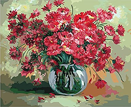 Amazon Ohtop Flower Vase Digital Oil Painting Diy Paint By