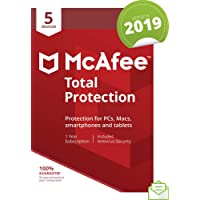 McAfee 2019 Total Protection, 5 Devices, PC/Mac/Android/Smartphones [Download]