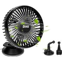DIKI Autoventilator, USB-ventilator voor auto, met 3 snelheden, koelventilator voor auto's met zuignap en houder voor…