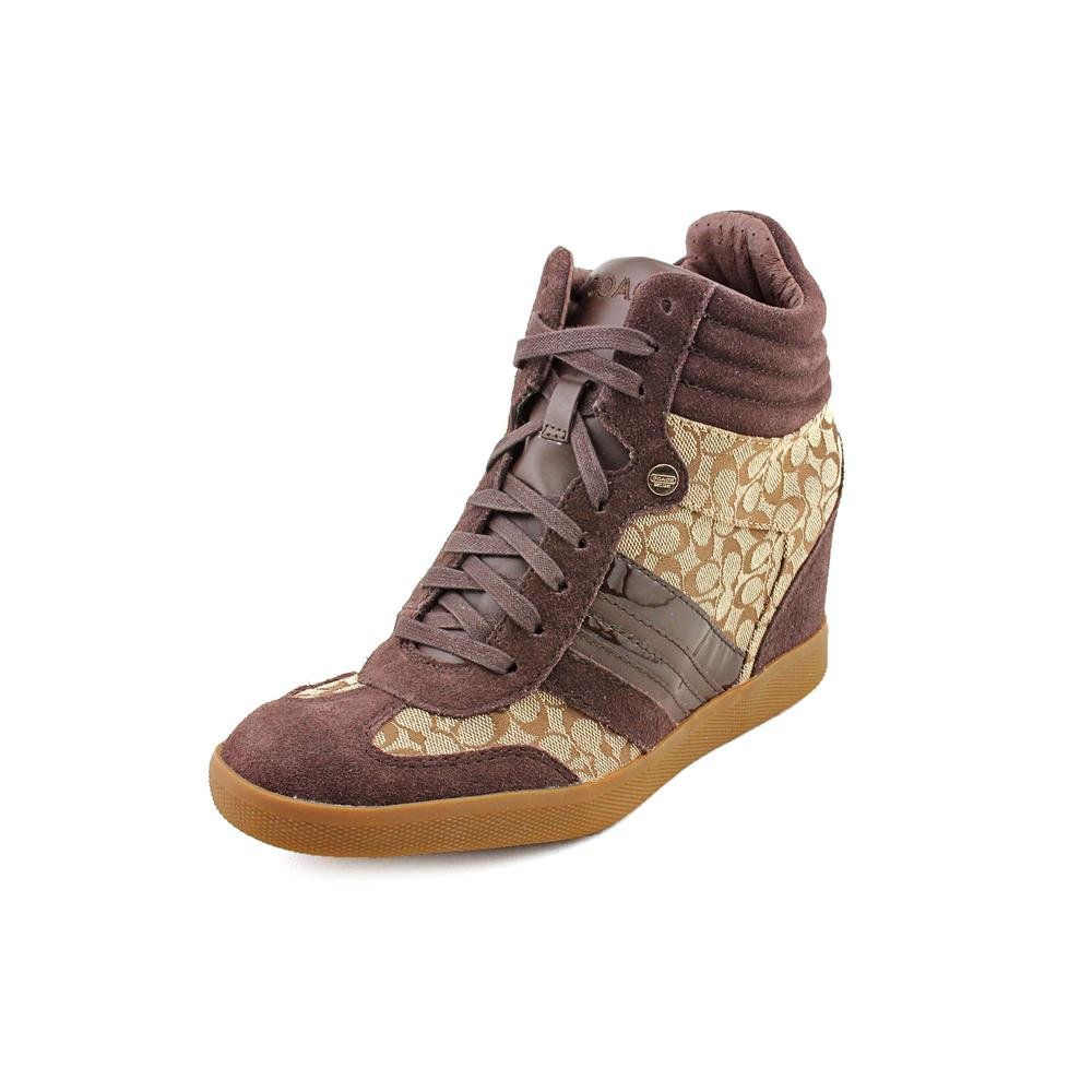 b179cebc851 Coach Alara Women s Signature Jacquard Wedge Sneakers (Khaki Chestnut) (9  B(M))  Amazon.ca  Shoes   Handbags