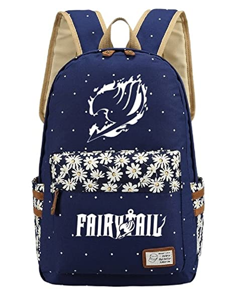 e83ce957156 Image Unavailable. Image not available for. Color  Siawasey Cute Anime  Fairy Tail Bookbag Backpack School Bag ...