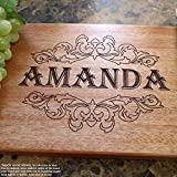 Victorian Style Personalized Engraved Cutting Board- Wedding Gift, Anniversary Gifts, Housewarming Gift,Birthday Gift, Corporate Gift, Award. #205
