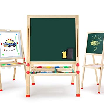ChenYongPing Tablero de Dibujo para niños 3-en-1 Art Easel ...