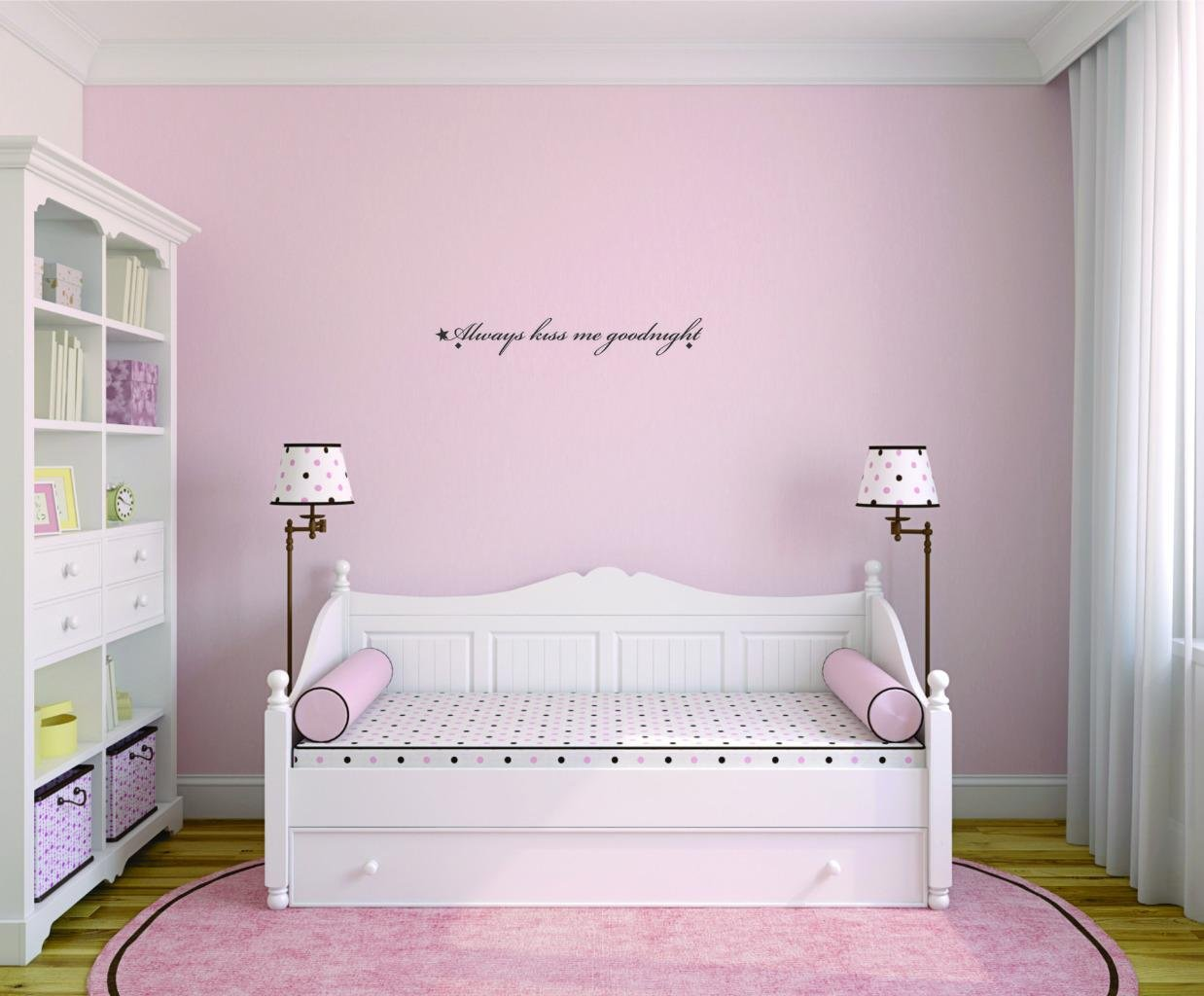 Home Decor Wall Stickers Wall Quotes Children/'s Room Fairy wishes and goodnight kisses wall sticker
