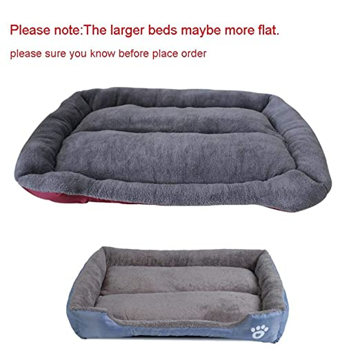 Amazon.com : MHGStore Pet Sofa Dog Beds Waterproof Bottom Soft Fleece Warm Cat Bed House Petshop Cama Perro (S, Gray) : Pet Supplies