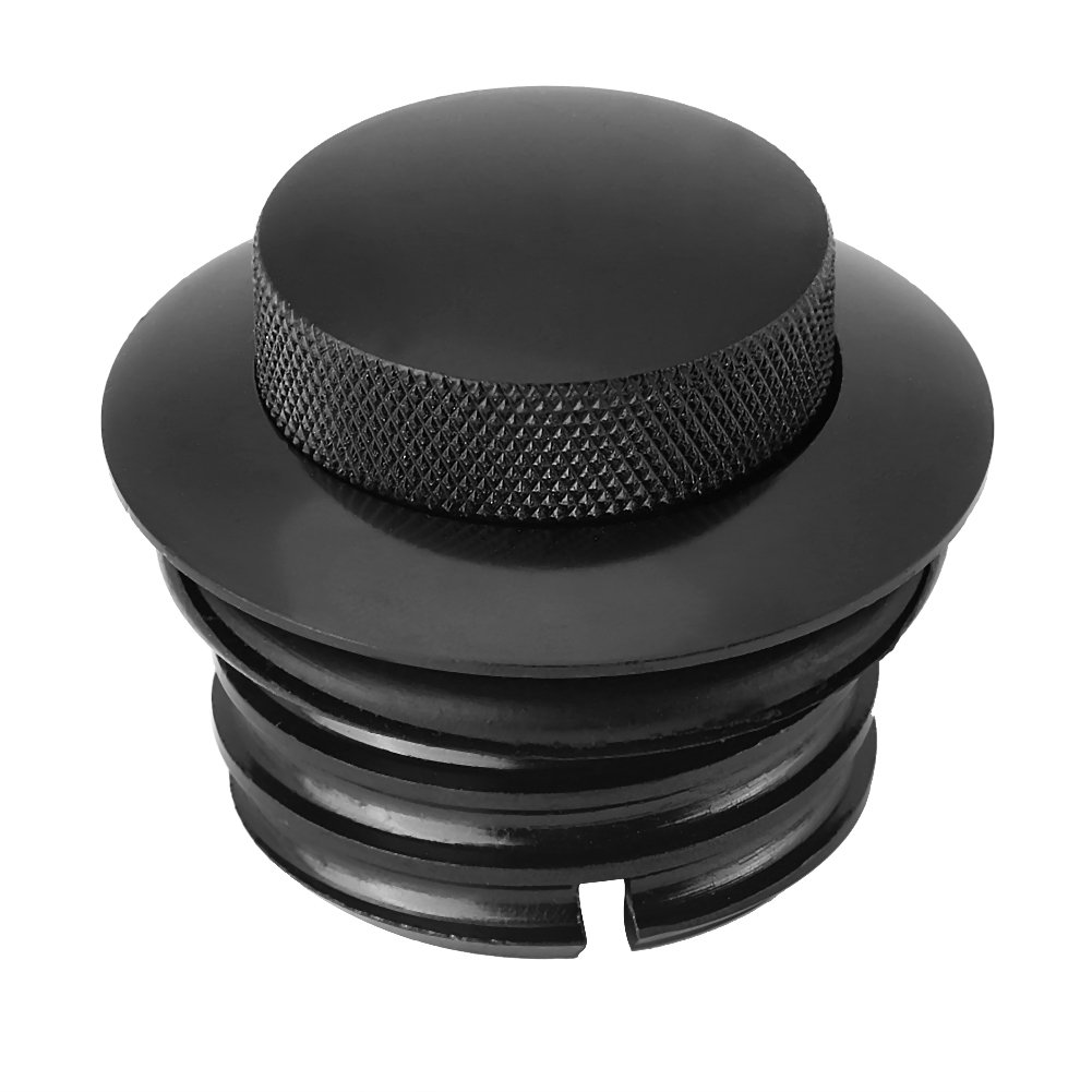 Fuel Tank Gas Cap Black, Keenso Reservoir Cap Motorcycle Tank Cover for Harley Dyna Touring Softail
