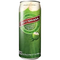 Taste Nirvana Real Coconut Water, Coco Real Premium Coconut Water, 16.2 Ounce Cans (Pack of 12)