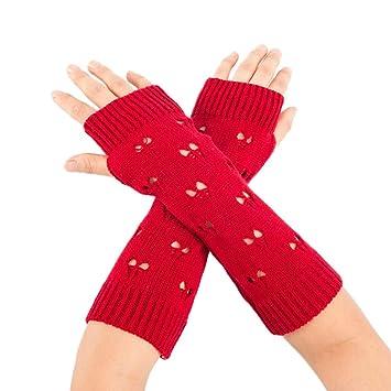 Happy Event Mujeres invierno calentador de brazo articulado sólida ...