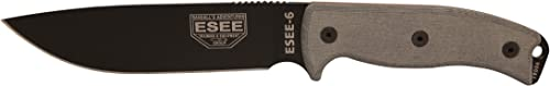 ESEE 6 Fixed 5.75 in Black Blade Micarta Handle