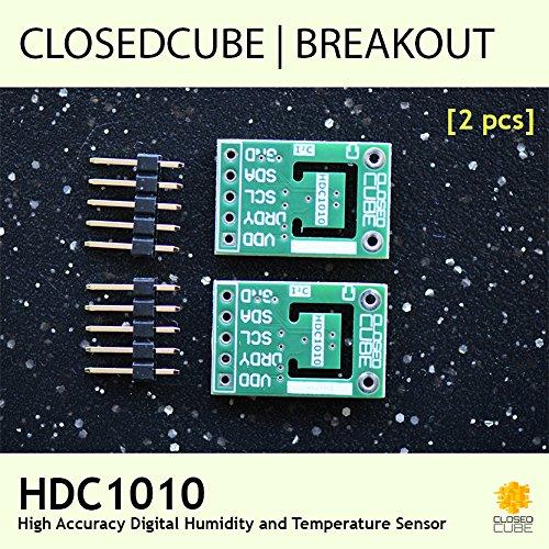 Closedcube Hdc1010/faible Puissance haute pr/écision Digital I2/C humidit/é et de temp/érature Sensor Breakout Board lot de 2