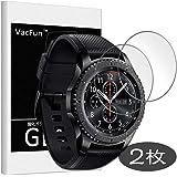 【 2枚 】 VacFun Samsung Galaxy Gear S3 Frontier/Gear S3 Classi ガラスフィルム 気泡無し 2.5D 強化ガラス 保護 フィルム 0.26mm 保護ガラス ガラス 9H 液晶保護フィルム プロテクター