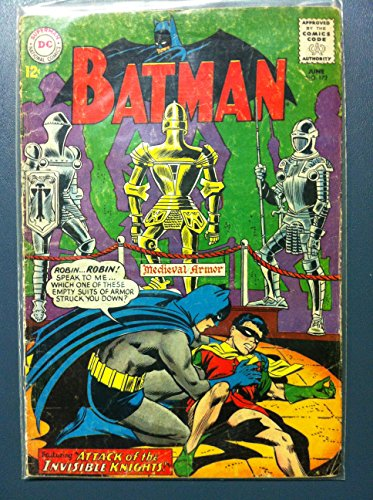 Dark Bat Knight Attack (BATMAN #172 Attack of the Invisible Knights Jun 65 Good (2 out of 10) Heavily Used by Mickeys Pubs)