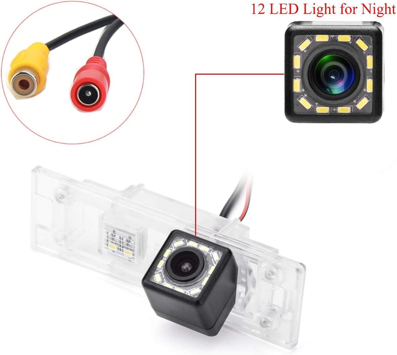 aSATAH 12 LED Car Rear View Camera for BMW E81 E87 E87N M1 F20 F21// BMW M6 E63 E64 E64N F12 F13 F06// Z4 E85 E86 E89 /& Waterproof and Shockproof Reversing Backup Camera 12 LED