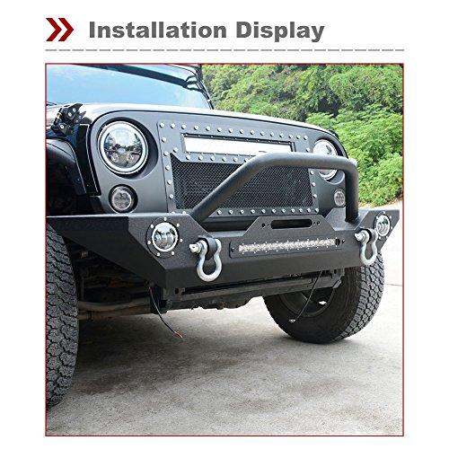 ledkingdomus rock crawler front bumper for 07-18 jeep wrangler jk and jk  unlimited,