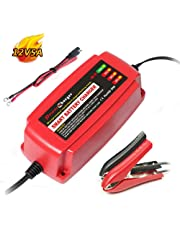12V 5A Battery Charger 4-Stage CE Approved Smart Fast AGM/SLA/Gel Sealed Lead Acid Battery Charger Electric Lawn Mower or Garden