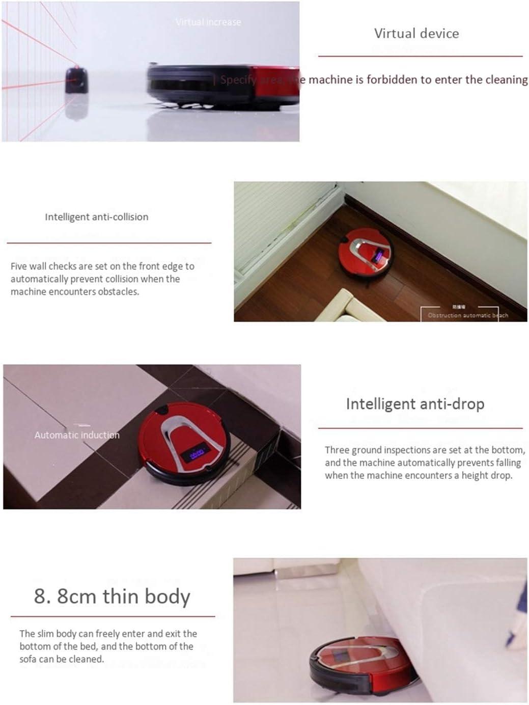 Gmjay Robot Aspirateur Intelligente de Robot Remplissant Automatique de Robot pour Le Plancher en Bois/Tuile/Marbre/Tapis red