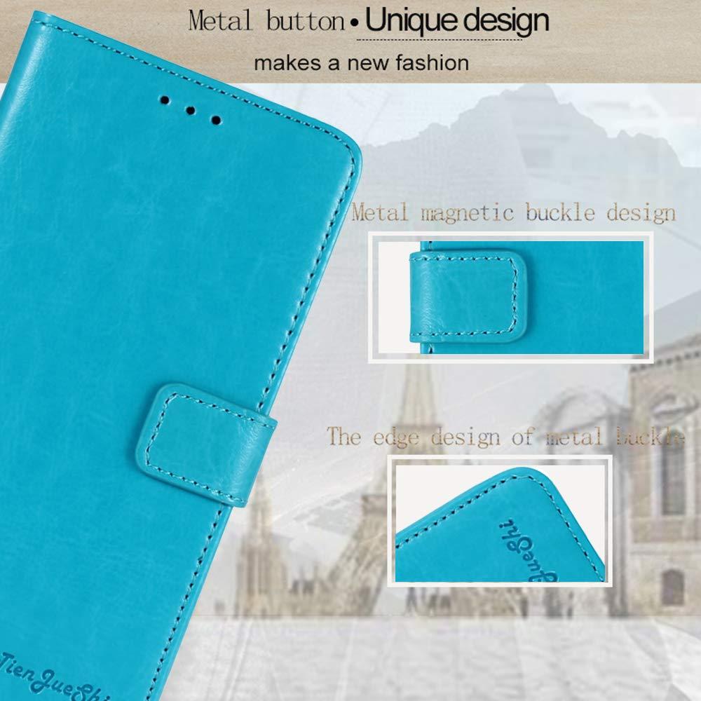 TienJueShi Azul Retro Premium Funci/ón de Soporte Funda Caso Tel/éfono Case para Cubot P30 6.3 Inch Carcasa Proteccion Cuero Cover Etui