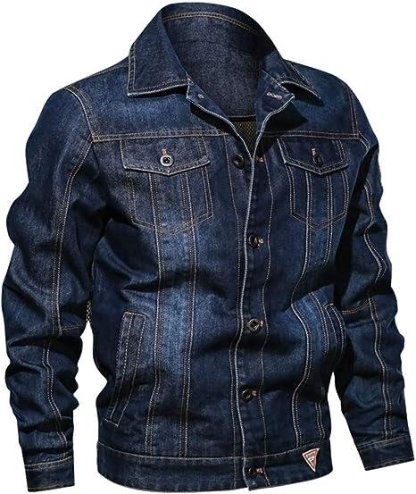 Overdose Chaqueta Jeans Abrigo Casual De Otoño para Hombre ...