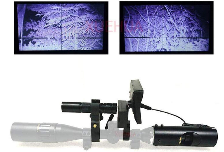CTO Nachtsichtteleskop Outdoor Jagd Optische Zielferngläser Mit LCD- Und Infrarot-Taschenlampen,A,Fernrohr