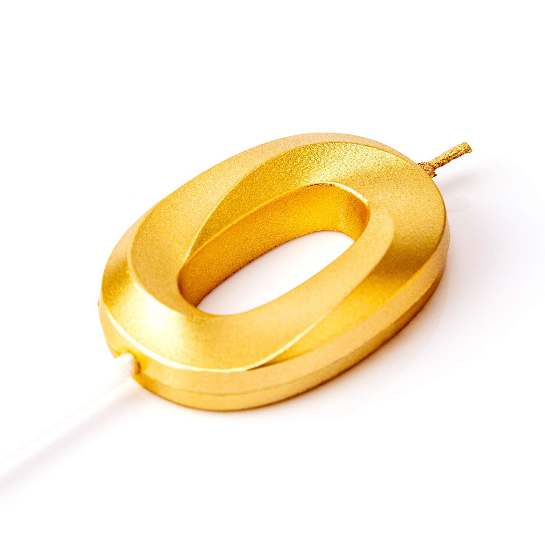 LUTER Glitter Oro Buon Compleanno Candele di Torta con Design Pieghevole Numero di Candele Candela di Compleanno Cake Topper Decorazione per Adulti per Bambini Numero 5