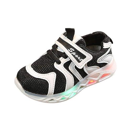 PAOLIAN Zapatillas Deporte con Luces para Niños Niñas Verano 2019 Zapatos Deportivos Running Bebes Unisex Antideslizante Calzado Exterior 22-29: Amazon.es: ...