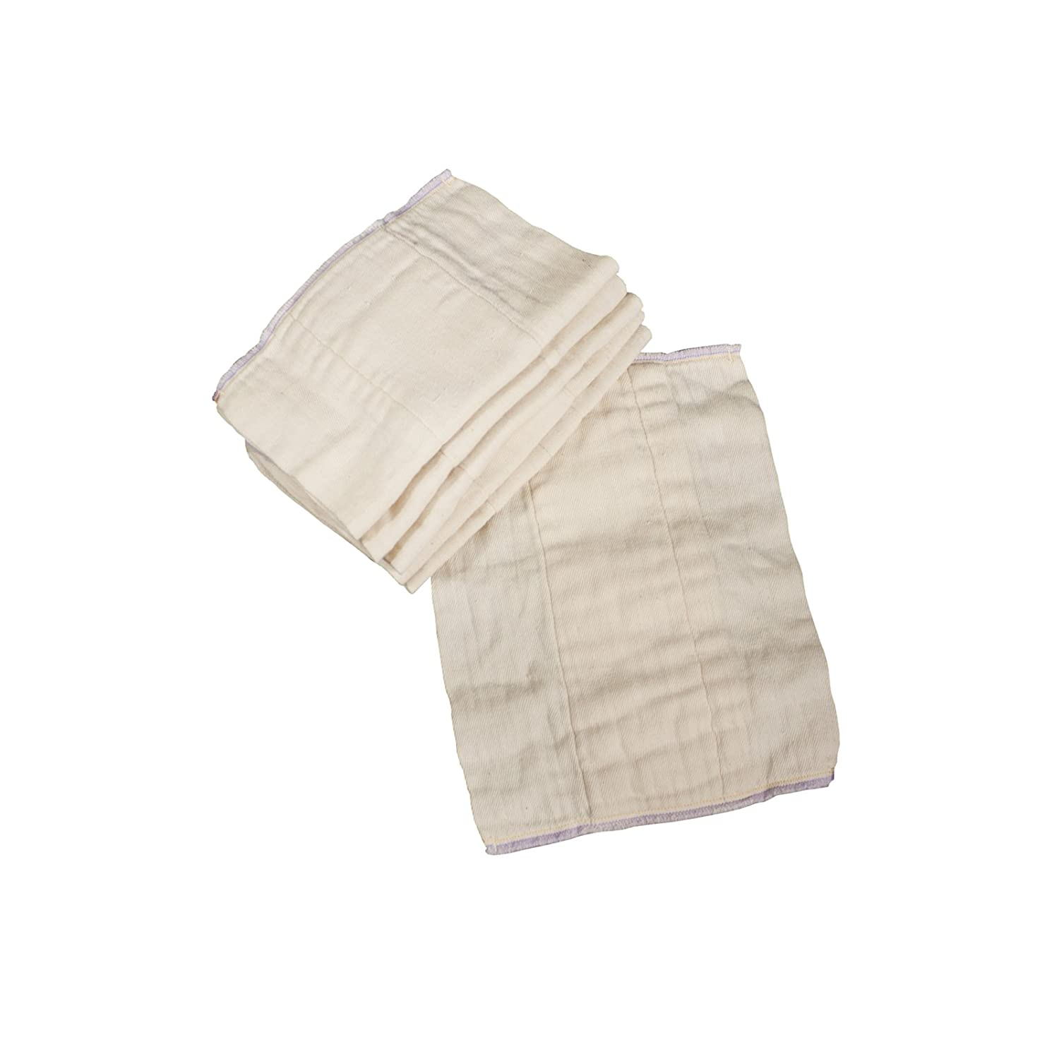 OsoCozy - Indian Cotton - Unbleached Prefold Cloth Diapers (1 dz.) (Preemie 2x6x2 (4-10 lbs)) All Together Diaper Co.