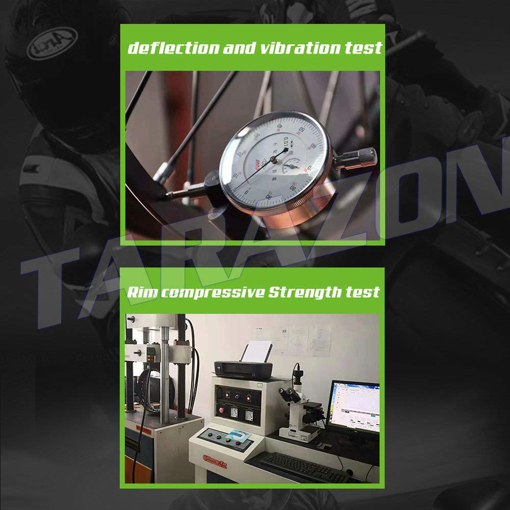 TARAZON 19 x 2.15 MX Rear Complete Wheel Kit Rim Spokes Gold Hub for Suzuki RMZ250 2007-2017 RMZ450 2005-2017 by TARAZON (Image #5)