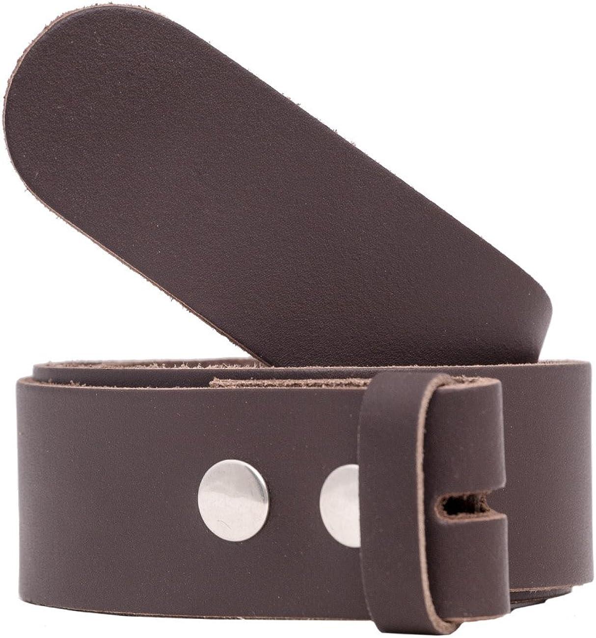 shenky - Correa de recambio para cinturón unisex - Cuero auténtico - Para cambiar hebilla - 4 cm de ancho