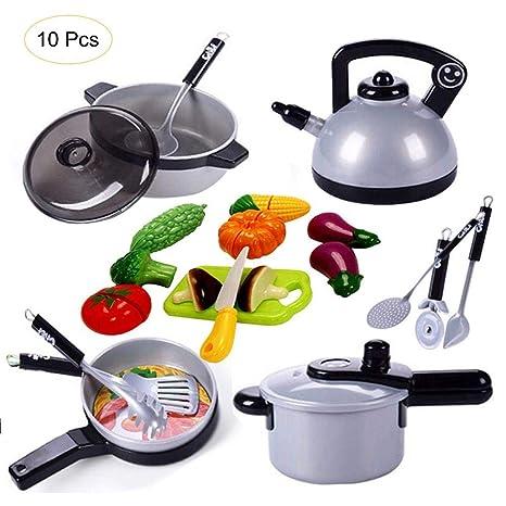 Utensilios de cocina Juguete de acero inoxidable Juego de cocina ...