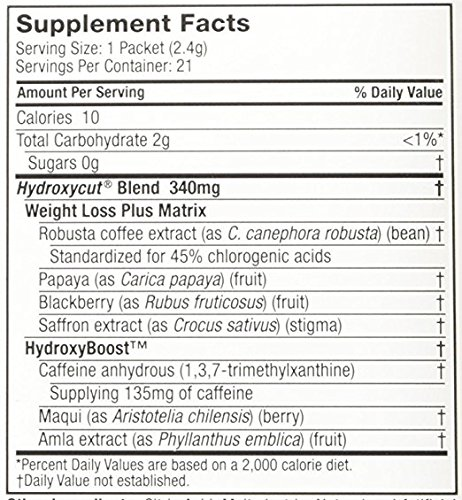 Hydroxycut Drink Mix, Scientifically Tested Weight Loss and Energy, Weight Loss Drink, 28 Packets (67.2 grams) 4 Pack by Hydroxycut (Image #3)