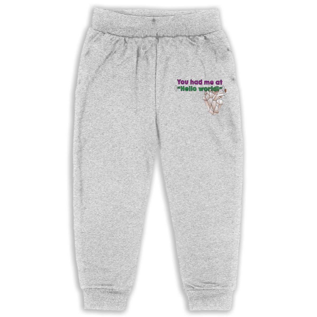 Laoyaotequ You Had Me Kids Cotton Sweatpants,Jogger Long Jersey Sweatpants