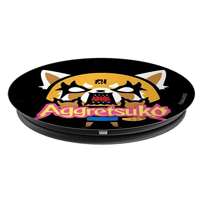 Amazon.com: aggretsuko Logo popsockets soporte para ...
