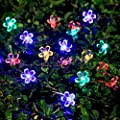 IREALIST 50 LED Lights Solar Powered Blossom Flower Garden String Fairy Lights with LED Waterproof Lights for Outdoor and Indoor Decoration