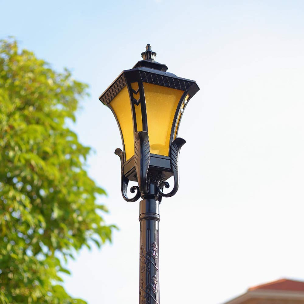 Magosca Vintage European High Pole Landscape Street Light Outdoor Waterproof Single Head Garden Residential Lawn Lamp Grass Garden Light Easy to Install and Disassemble Height 105cm