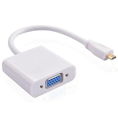 1080P Micro HDMI mâle vers VGA femelle convertisseur vidéo Câble adaptateur pour écran PC Projecteur