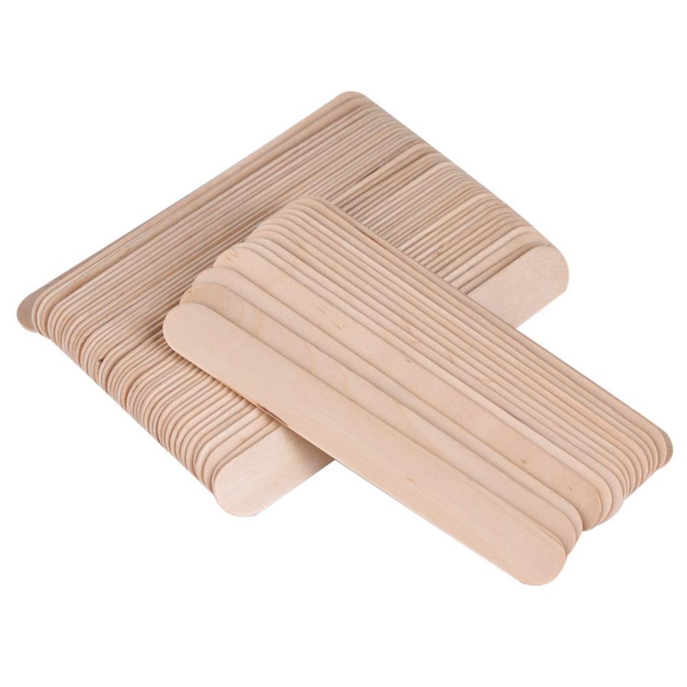Waxing Stick, 100Pcs/Bag Spatula Applicator Wooden Spatula Disposable Medical Tongue Depressor