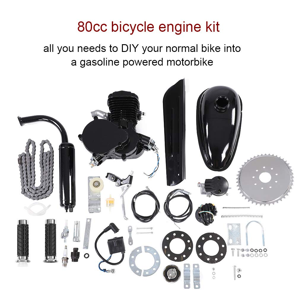 80CC Bicycle Engine Kit 2 Stroke Gas Motorized Bike Motor DIY Set with Tools
