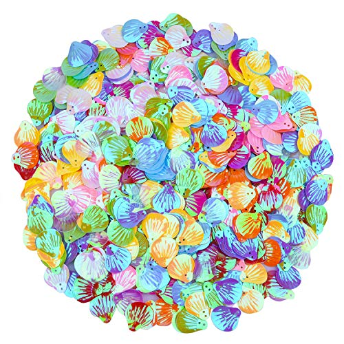 - Ancefine 18mm Sparkling Seashell Loose Sequins for Craft Wedding Decoration,500 Pieces (Mix Color A)