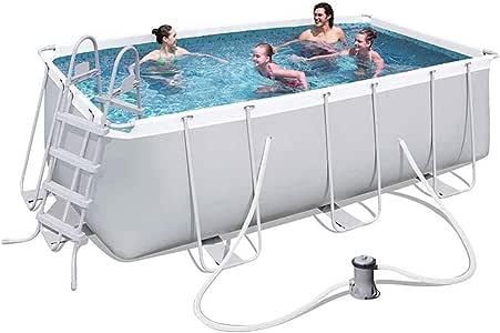 ZZQH Piscina automontable con depuradora, Piscina Desmontable Tubular Diversión Familiar de Agua en Verano para Niños y Adultos, 300 * 175 * 80CM: Amazon.es: Hogar