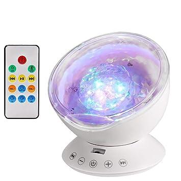 Lampe Projecteur Led Simulation Des Vagues Ocean 7 Modes Veilleuse