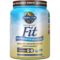 Garden of Life Raw Organic Fit Powder, Chocolate - High Protein for Weight Loss (28g) plus Fiber Probiotics & Svetol…