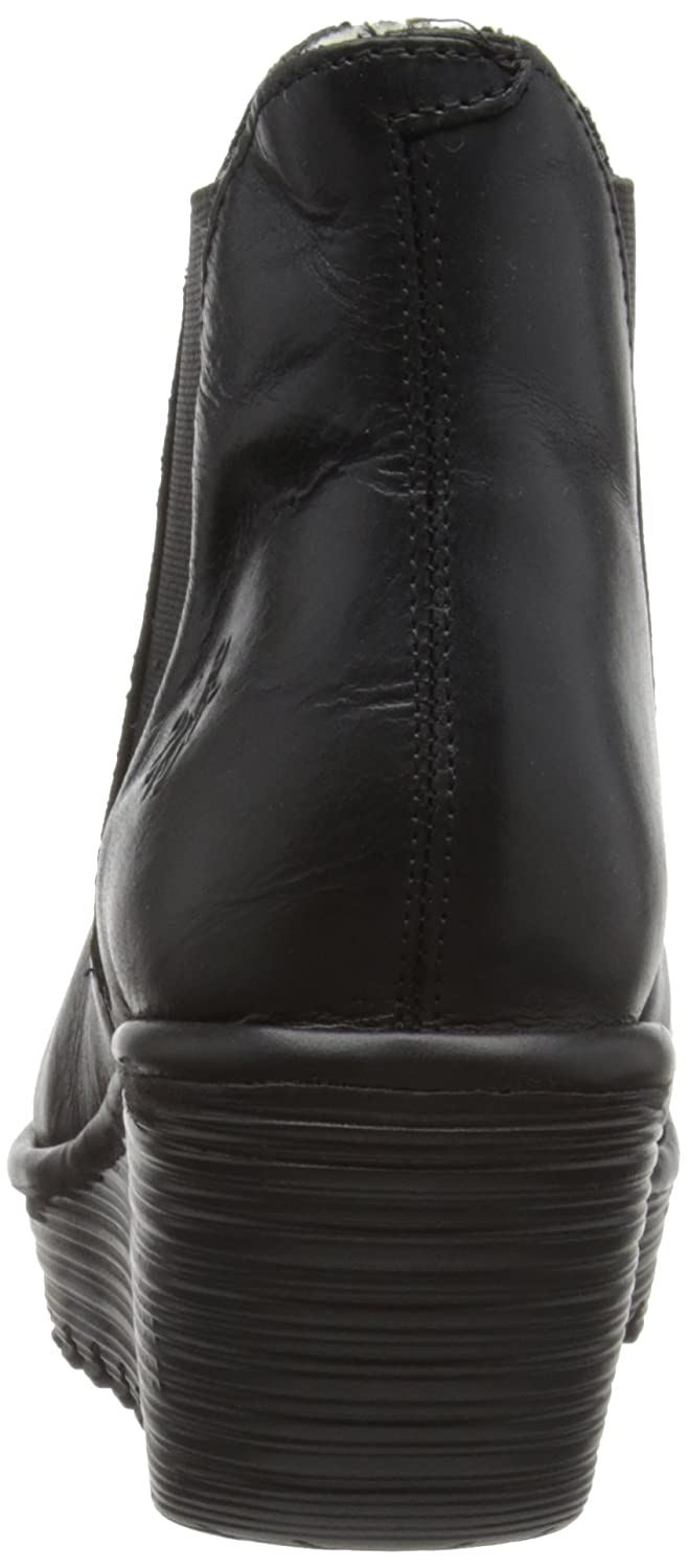 Amazon.com | Womens Fly London Yoss Leather Winter Platform Ankle Boots Wedge Heels | Ankle & Bootie